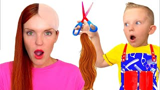 Martin wants to be a hairdresser Pretend Play