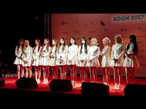 Cosmic GIrls (WJSN) KCON LA 2017 Hi Touch and fan engagement  1/2