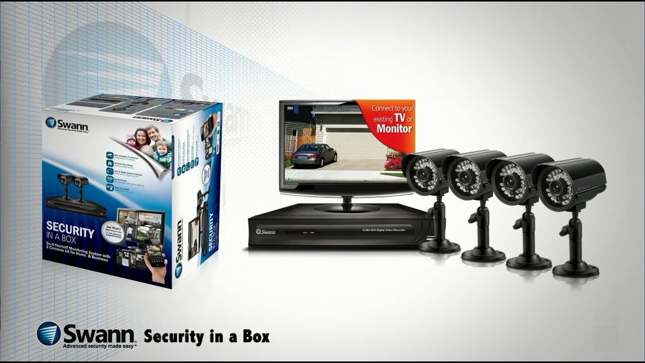 Swann sistema de seguridad 4 c maras y 1 dvr youtube - Sistemas de seguridad para casas ...