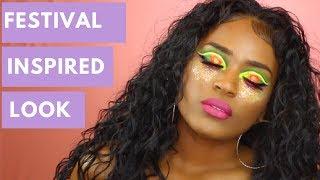 coachella festival inspired colorful look