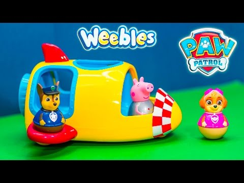 PAW PATROL Nickelodeon Peppa Pig Space Ship Weeble New Toys Video