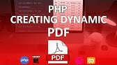 Create PDF with PHP FPDF - YouTube