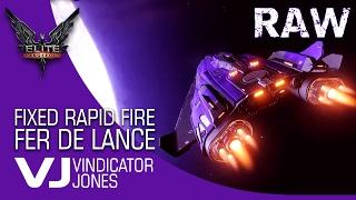 Fixed Rapid Fire Pulse on a  Fer De Lance - Elite Dangerous