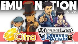 EMU-NATION: Professor Layton Vs. Pheonix Wright Emulated on Citra!