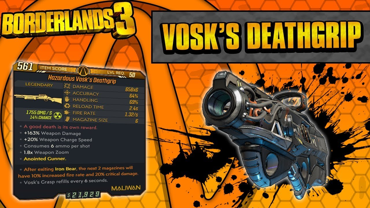Borderlands 3 | Vosk's Deathgrip Legendary Weapon Guide (Beams of Death!) thumbnail