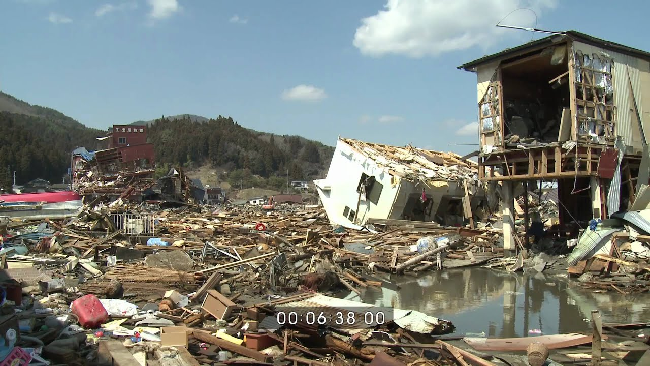japan tsunami aftermath worst hit areas kesennuma full hd