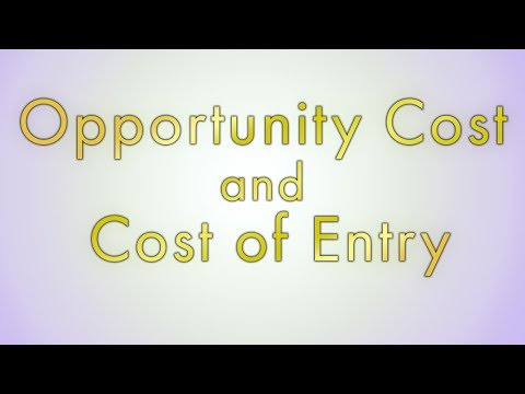 Opportunity Cost and Cost of Entry - an author and musician's perspective