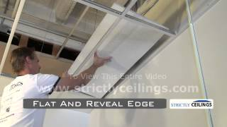 Installing 2x2 & 2x4 Drop/Suspended Ceiling Tiles Into Ceiling Grid