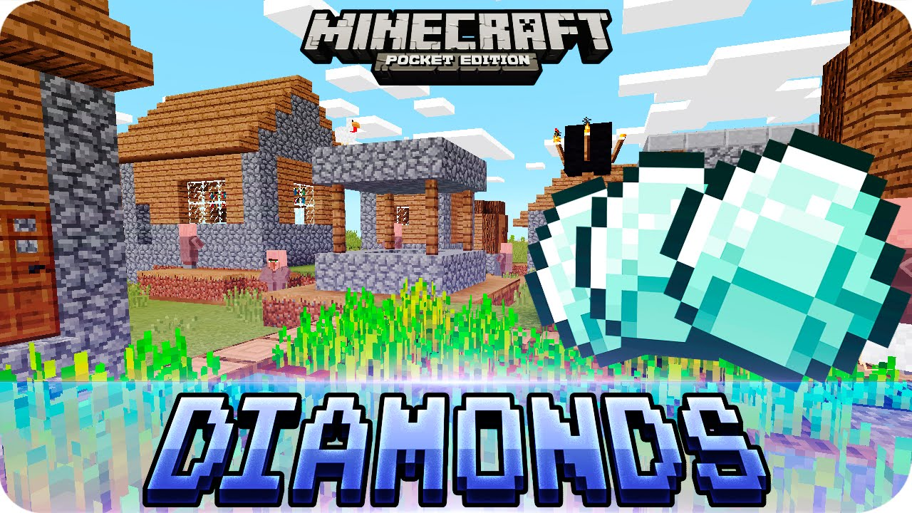 Minecraft Pe Seeds - 2 Villages  2 Temples And 17 Diamonds Seed  0 16 0    0 15 0 Mcpe