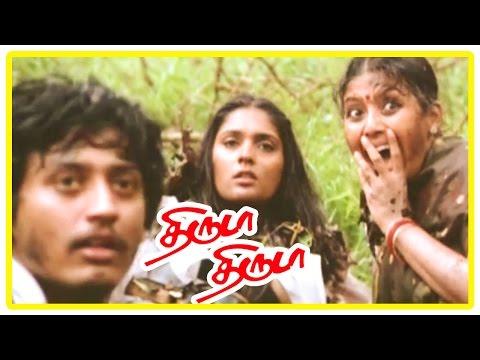 Thiruda Thiruda movie scenes | Prasanth,Anand,Anu and Heera find the container carrying money