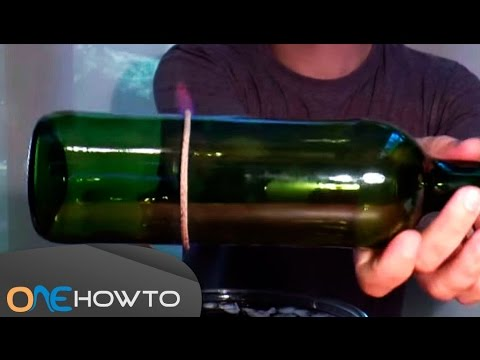 How to cut glass bottles with a string and fire youtube for How to cut glass with string and fire