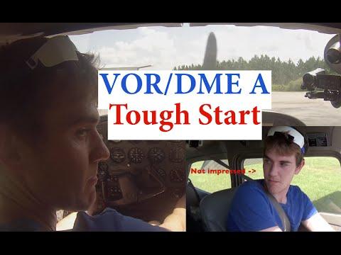 VOR DME Arc Approach| Tough Start| Cessna 172| ATC Audio