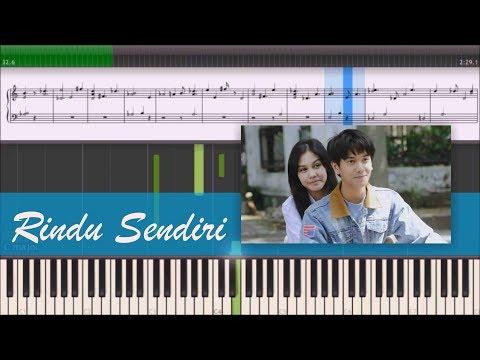 Iqbaal Dhiafakhri - Rindu Sendiri OST Dilan (Instrumental Piano Tutorial)