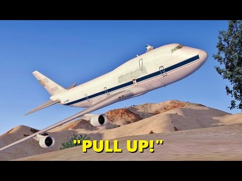 """Air Force One"" CRASHES in the Desert (Multiple Times) - FSX Multiplayer Chaos"