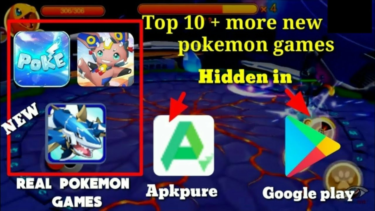 Top 10 new 2019 pokemon games hidden in playatore || apkpure and playstore  games||Andromaster