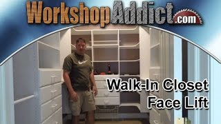 Walk-In Closet Renovation with Easy Track