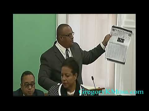 Honourable Gregory K. Moss ~ Contribution to the Grand Bahama Port Authority Bill