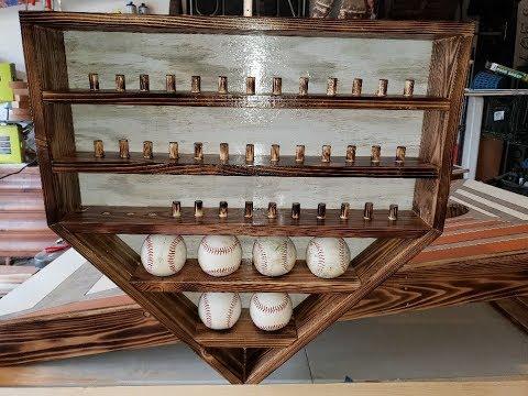 Home Plate Ring and Baseball Display Shelf   23 x 23