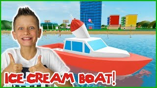 SELLING ICE CREAM FROM A BOAT!!!