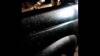 Покраска автомобиля раптором с эффектом металлика, блестки