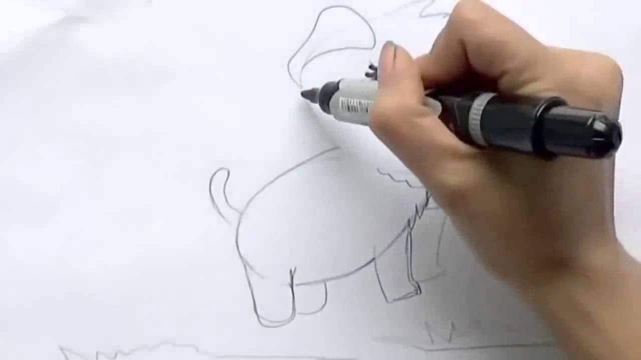 comment dessiner un chien facile