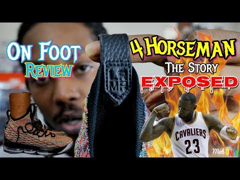 d2bc7fe75e3 The 4 HORSEMEN Story EXPOSED Lebron 15 Multi Color On Foot 4k Ultra HD  Review