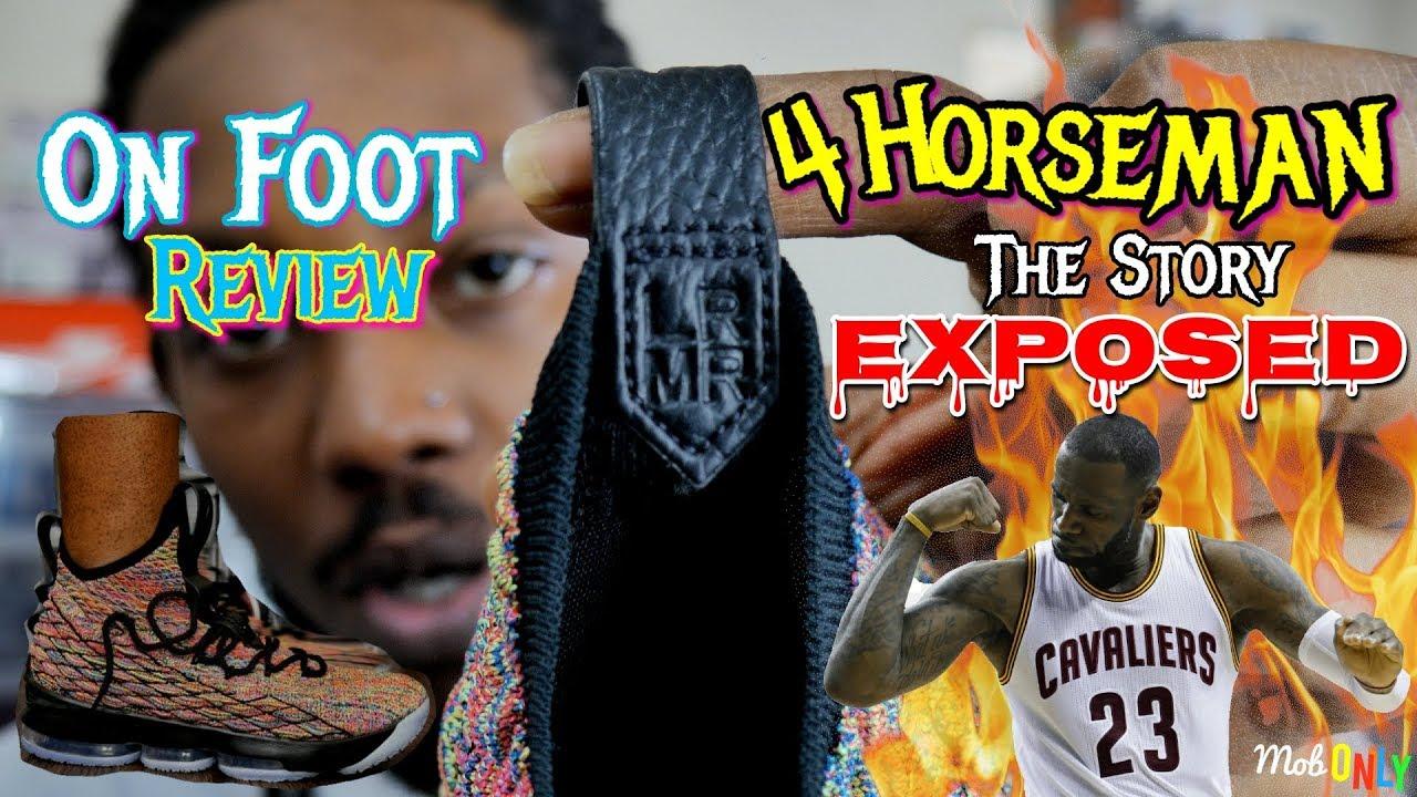 d2b0aaf15723b3 The 4 HORSEMEN Story EXPOSED Lebron 15 Multi Color On Foot 4k Ultra ...