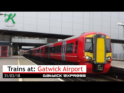 Trains at Gatwick Airport, BML - 31/3/18