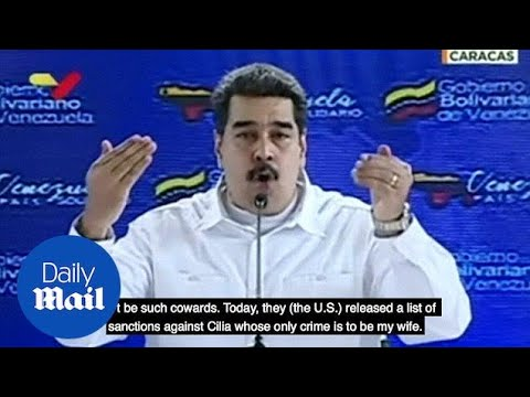 Maduro calls Trump administration cowards over new sanctions