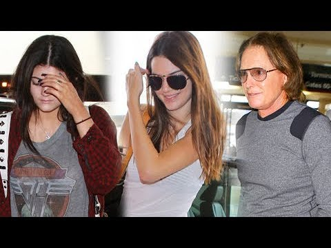 Bruce Jenner Hits LAX With Daughters Kendall And Kylie [2013]