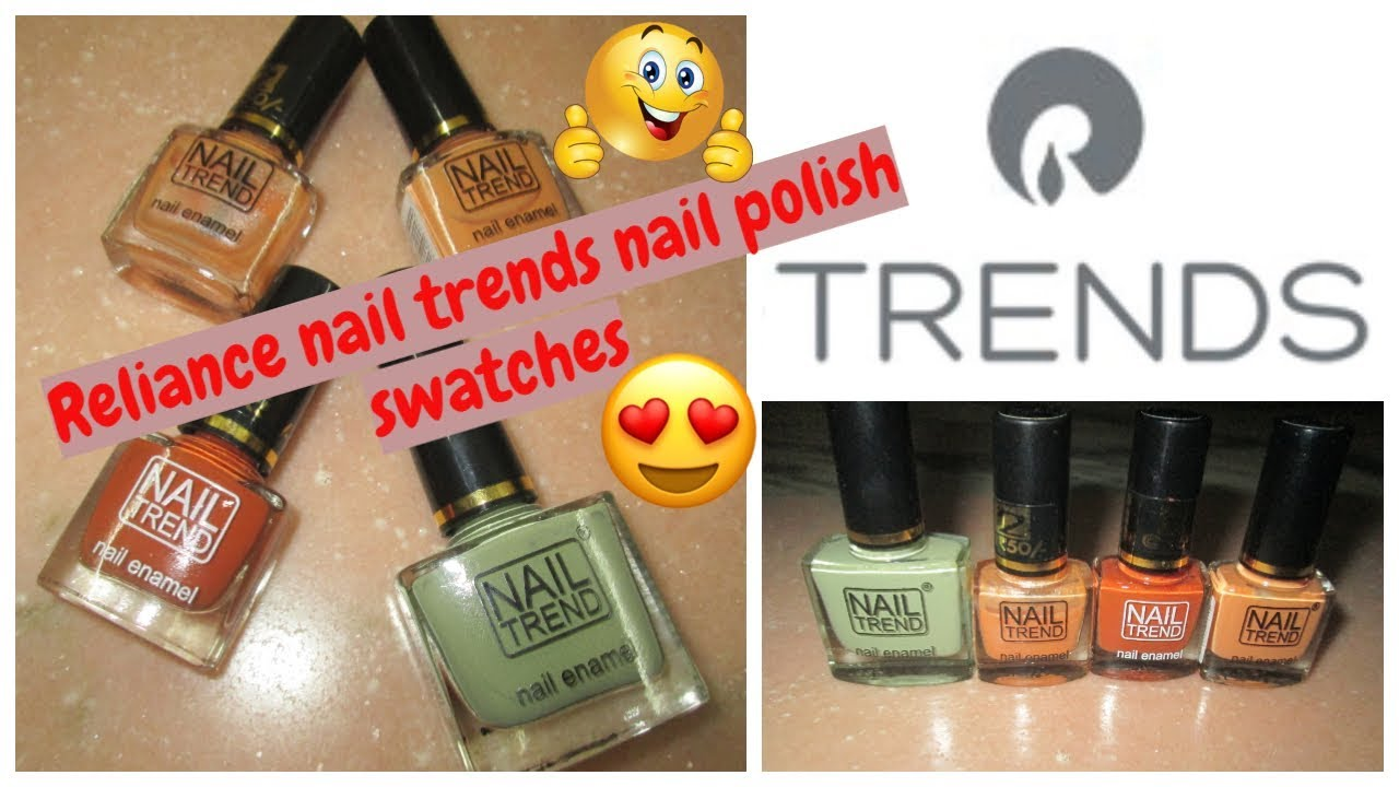 Reliance trends nail polish swatches | Affordable nail polish under ...