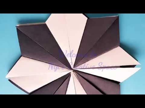DIY: How to make a super simple black & white flower/ paper crafts