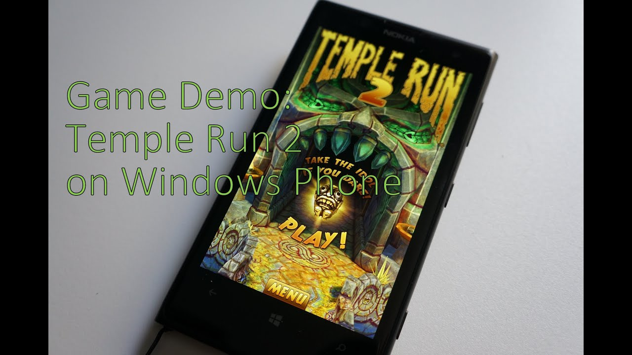 Temple run now available for download from windows phone store.