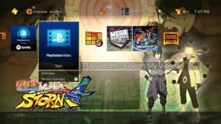 Naruto Shippuden Ultimate Ninja Storm 4 Dynamic Theme PS4