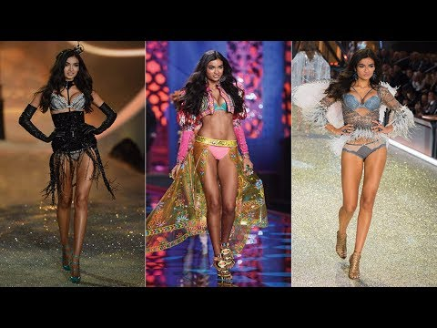 Victoria's Secret Model Kelly Gale flaunts her long legs