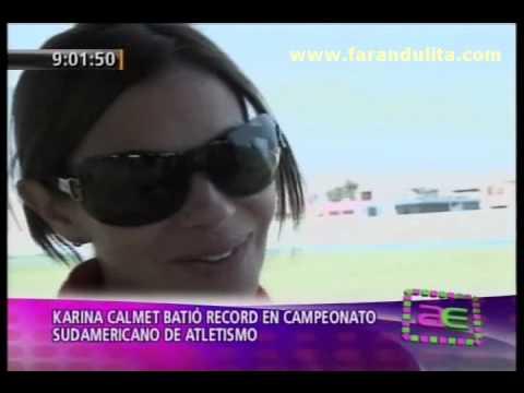 AE 17-10-2011 Karina Calmet batio record en campeonato sudamericano de atletismo