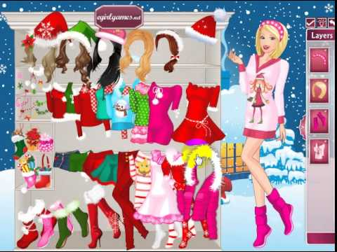 Barbie Christmas Night Dress Up online girl game - YouTube