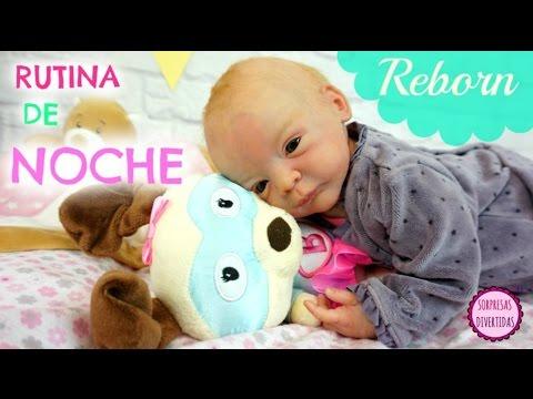 Rutina de la Noche del bebé Reborn LINDEA - Vídeos de muñecas bebes realista