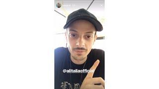 Rovazzi ed il dissing ad Alitalia