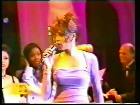Rare! Whitney Houston - Exhale (Shoop Shoop) LIVE Grammy Party 1996