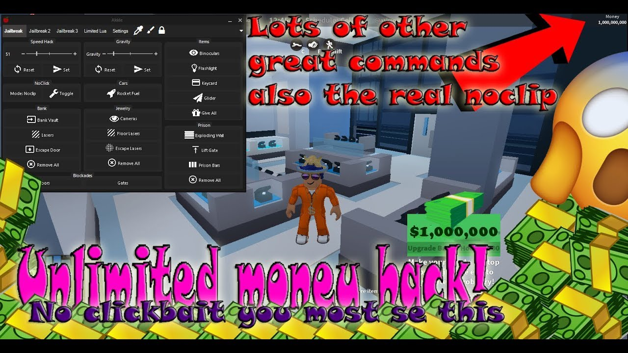 Glitches And Hacks For Jailbreak Roblox Roblox Jailbreak Unlimited Money Glitch Hack Working Youtube