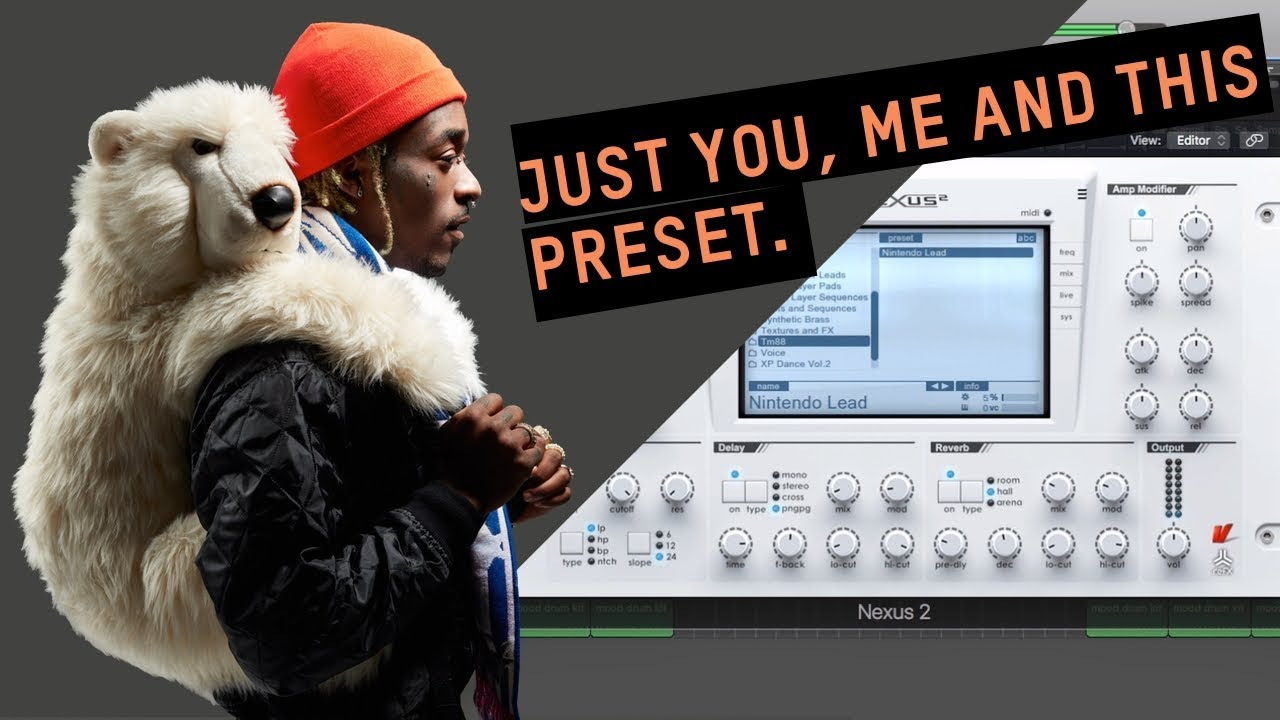 That lead PRESET Southide, TM88 and Supah Mario used in Mood
