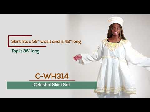 Formal African design skirt set from Africa Imports