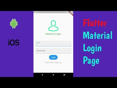 Flutter: How to create Basic Material Login Page