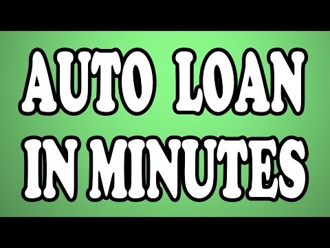 Auto Loan Financing - Get Approved For A New Or Used Auto Loan (In Minutes)