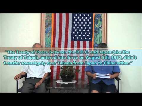Explaining the legal status of Taiwan 3-2
