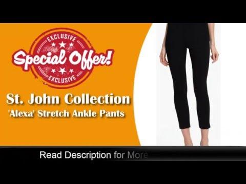 St. John Collection 'Alexa' Stretch Milano Knit Ankle Pants