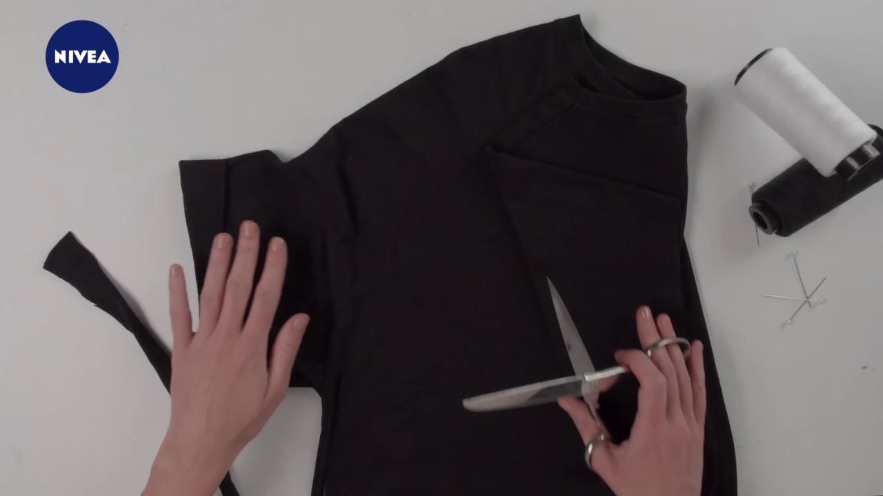 32c9ef6c8148 DIY návod na super šaty ze starého trička - YouTube