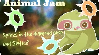 spikes in the diamond shop sloths   animal jam