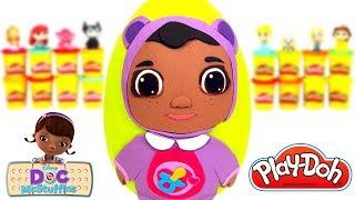 Huevo Sorpresa Gigante de la Bebé Cece de la Doctora Juguetes en Español de Plastilina Play Doh